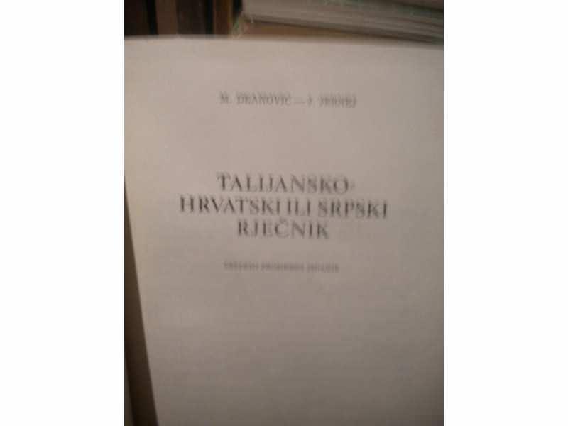 Talijansko hrvatski ili srpski recnik