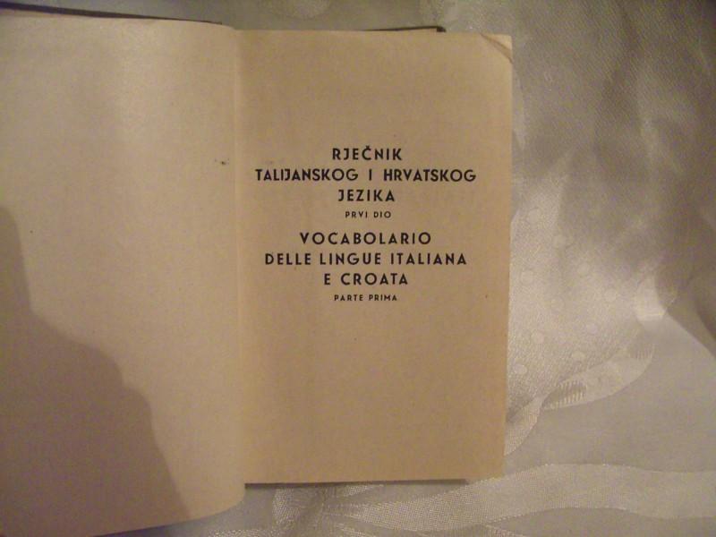 Talijansko hrvatski rječnik Mirko Deanović