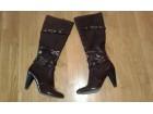 Tamno braon ženske čizme