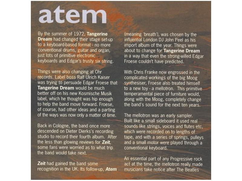 Tangerine Dream - Atem - Kupindo com (31624377)