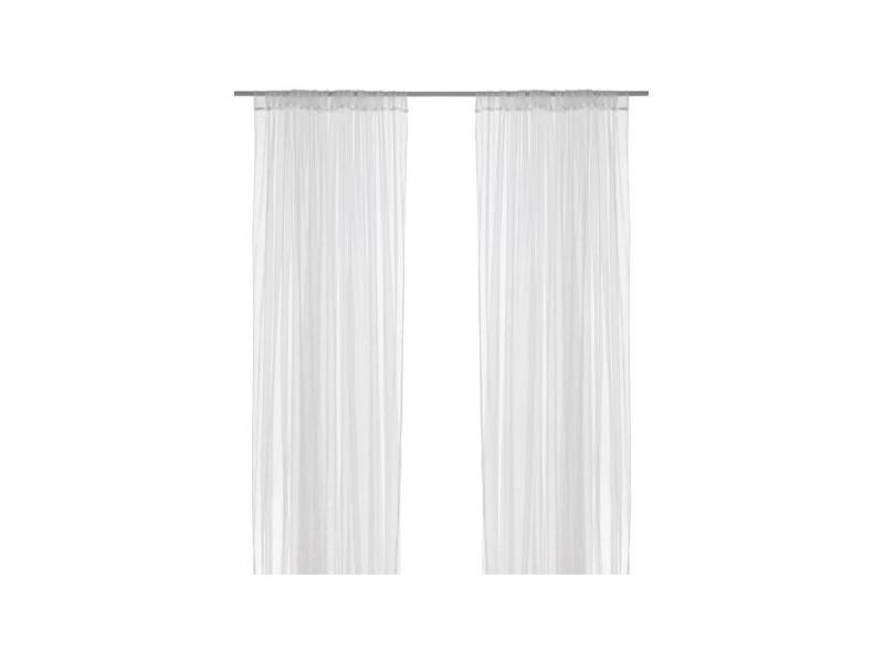 Tanja zavesa.  NOVO. IKEA.  bela, providna.