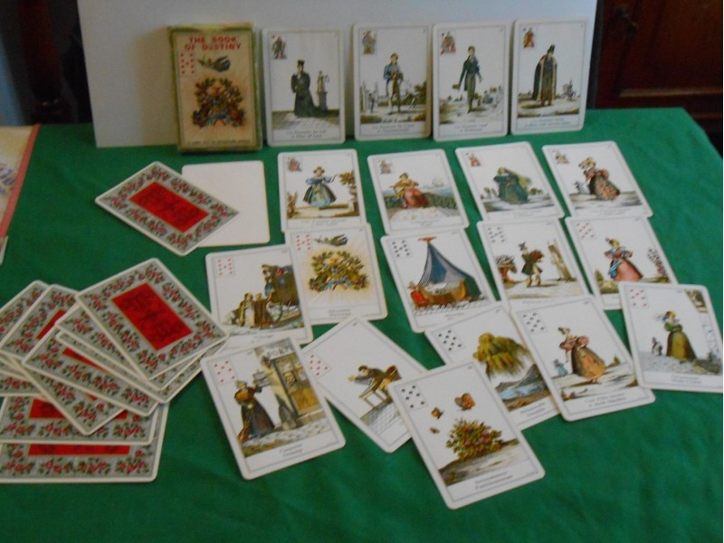 Tarot karte sudbine  Vintage Book Of Destiny CardsTAROT