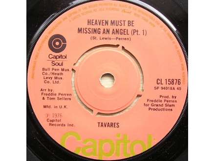 Tavares - Heaven Must Be Missing An Angel