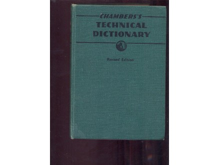 Tecnical dictionary -Chambers (990 strana)