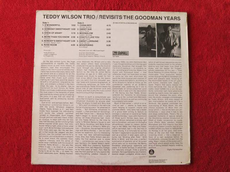 Teddy Wilson Trio - Revisits The Goodman Years