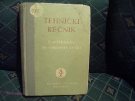 Tehnički rečnik, englesko srpskohrvatski