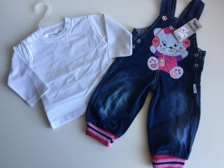 Teksas farmerke + majica,komplet za devojcice,Vel-80