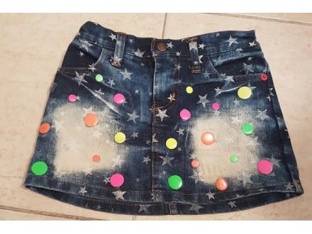 Teksas suknja za devojcice- preslatka.. broj 4