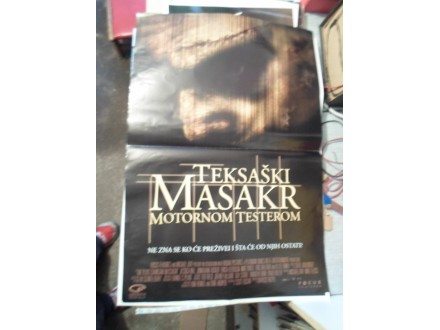 Teksaski masakr motornom testerom - plakat za film