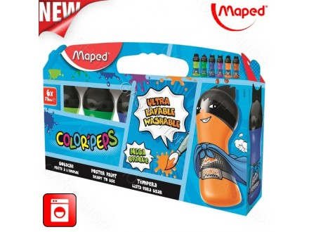 Tempere Maped Color Peps 6x75ml  810011