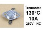 Termostat - 130°C - 10A - 250V - NC