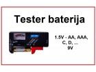 Tester baterija - 1.5V AA, AAA, C, D, 9V