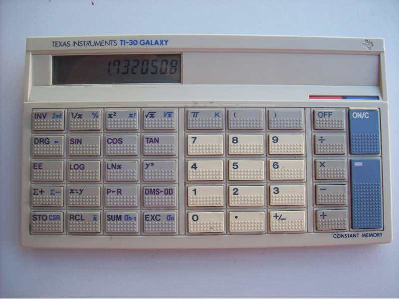 Texas  Instruments TI-30 GALAXY