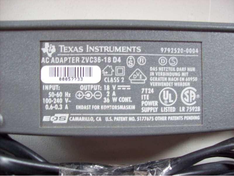 Texas Instruments punjac 18v 2A