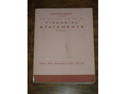 The Analysis and Use of Financial Statements - Manual