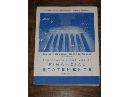The Analysis and Use of Financial Statements - Report