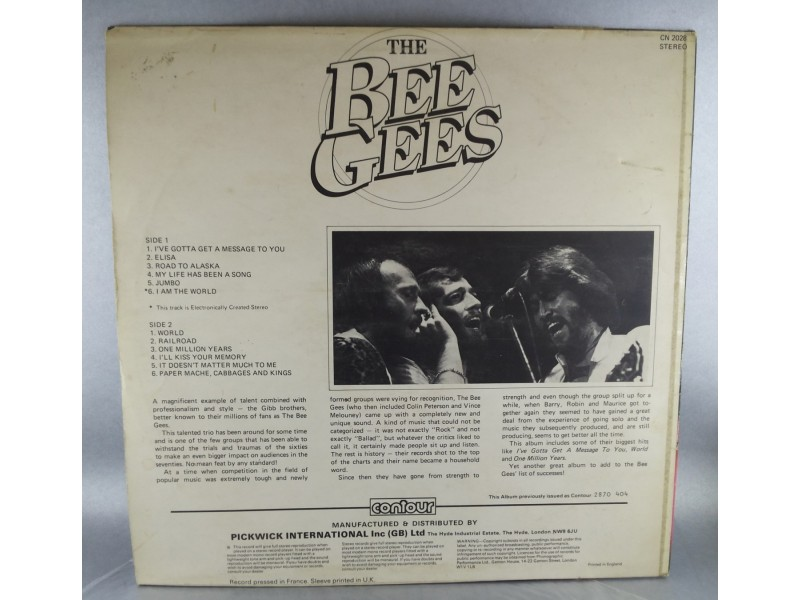 The Bee Gees* ‎– I`ve Gotta Get A Message To You, LP