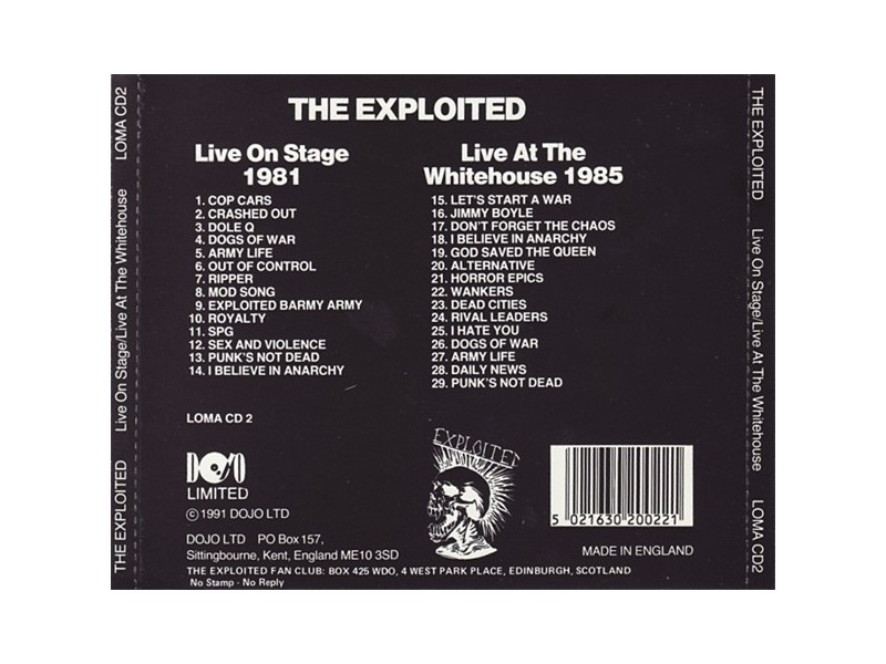 The Exploited – Live On Stage / Live At The Whitehouse