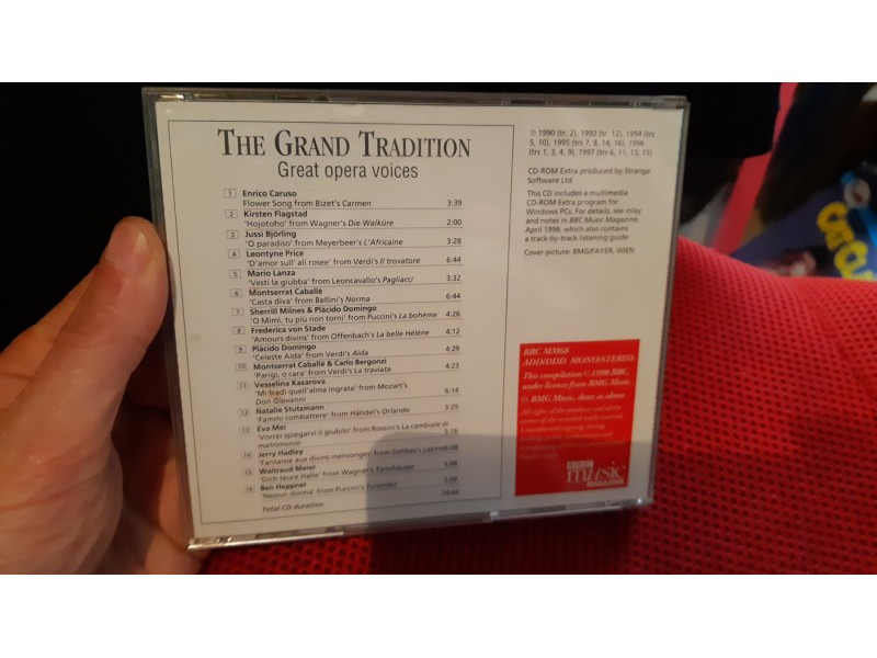 The Grand Tradition - Great Opera Voices - Kupindo com