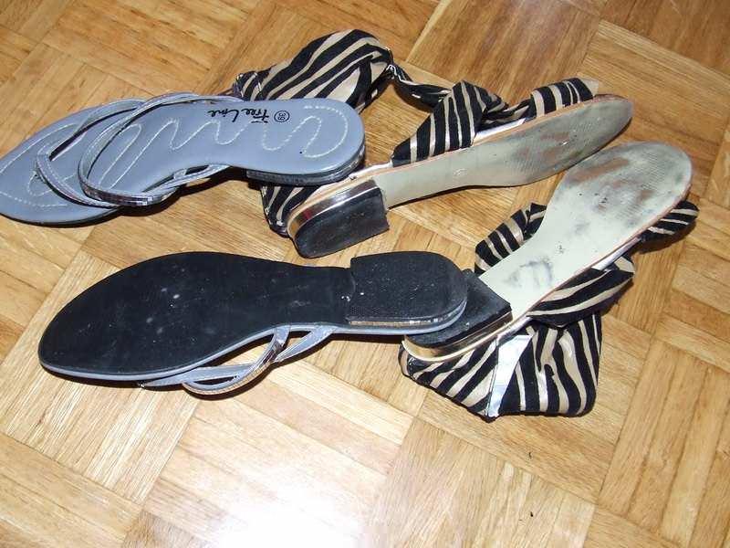 Tigraste sandale br.38+poklon japanke br.39
