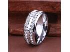 Titanium prsten sa CZ kristalima