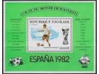 Togo 1981 Espana `82 Stadion Espanjola blok, čisto (**)