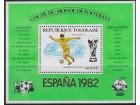 Togo 1981 Espana `82 Stadion Real Madrida blok, čisto**