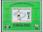Togo 1981 Espana `82 Stadion Saragose blok, čisto (**)