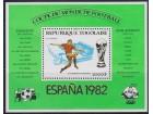 Togo 1981 Espana `82 Stadion Valensije blok, čisto (**)