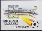 Togo 1982 Espana `82 Fudbal blok, čisto (**)