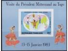 Togo 1983 Poseta Fransoa Miterana blok, čisto (**)