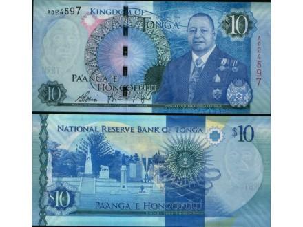 Tonga 10 Paanga 2015. UNC.