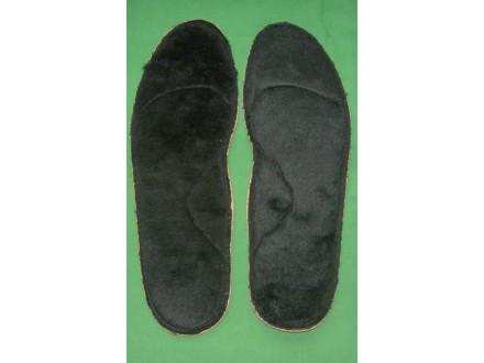 Topli krzneni ulošci, br. 45, 30 cm, muški, novo