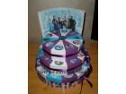 Torta od kartona na tri sprata-Frozen