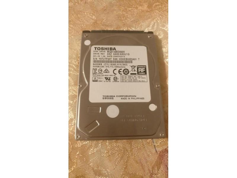 Toshiba 2.5Inch 500Gbb sata hard disk