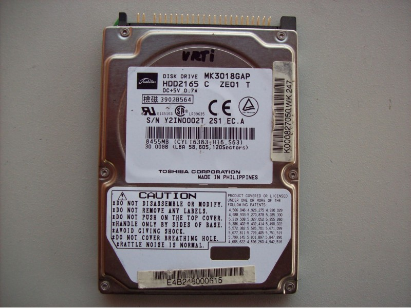 Toshiba 30 gb ata 2.5