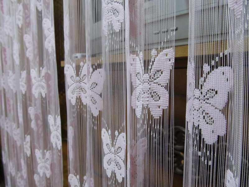Trakasta zavesa u boji`leptirići`