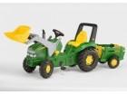 Traktor John Deere sa kašikom i prikolicom