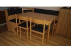 Trpezarijski set - sto, stolice i klupe