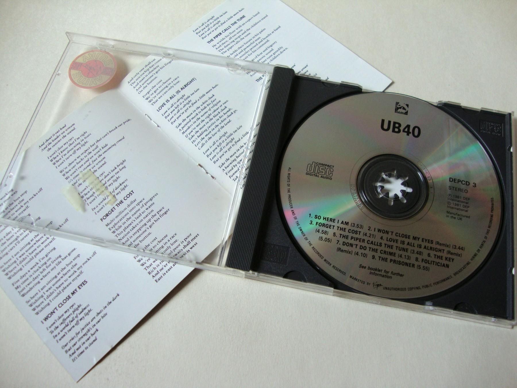 UB40 - UB44 - Kupindo com (53252561)