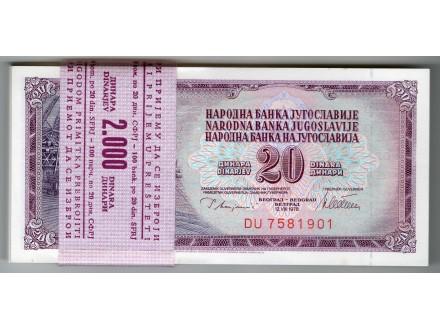 UNC 20 dinara 1978