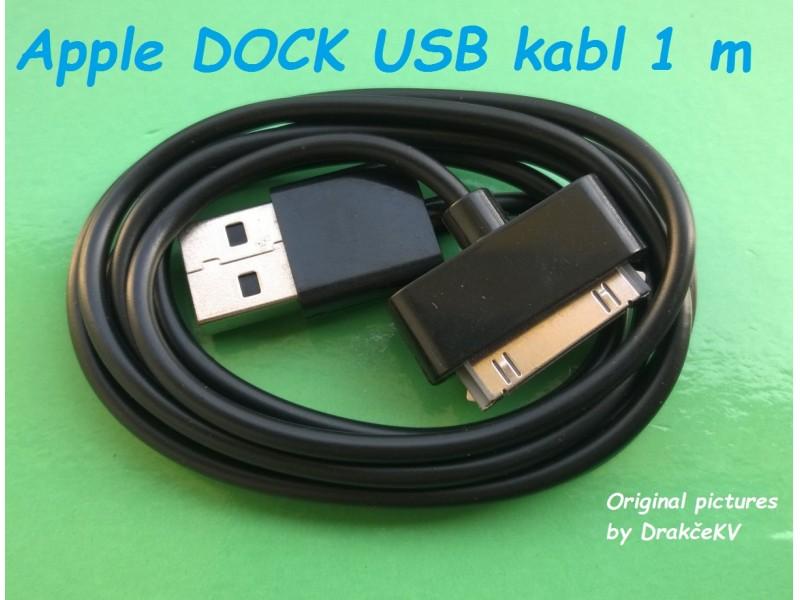 USB DATA kabl iPhone 3 iPhone 4 4S... 1m Beli, Crni