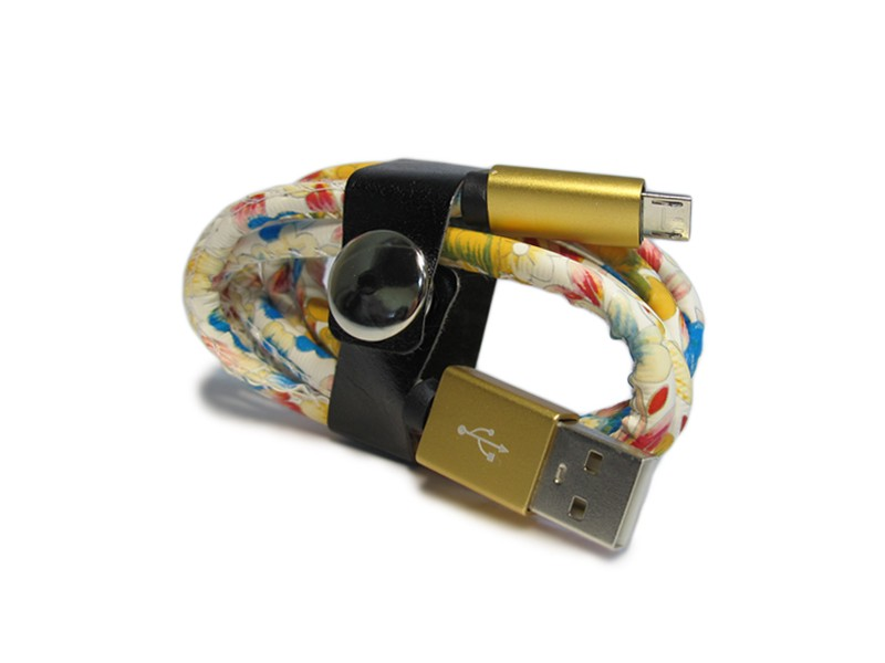 USB data kabal LEATHER safe microUSB 009