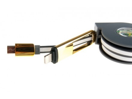 USB micro lightning USB kabel na razvlačenje