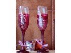 Ukrasne ručno oslikane čaše Floral 1 par