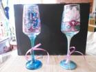 Ukrasne ručno oslikane čaše par