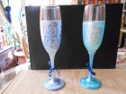 Ukrasne ručno oslikane svečane čaše ornament 3