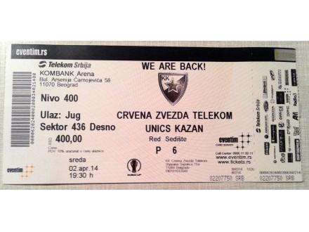 Ulaznica: Crvena zvezda - Unics Kazan EK