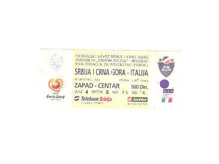 Ulzanica Srbija i Crna Gora-Italija,2003
