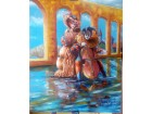 Umetnička slika `Ulični svirači`